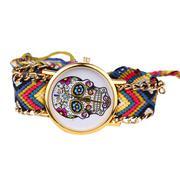 Leisure Fashion Color Skull Head Figure Weaving Lady Bracelet Table