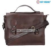 Túi xách hộp vuông Huy Hoàng màu nâu - HH6136