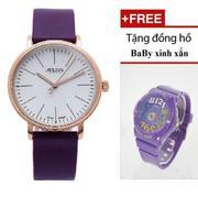 Đồng hồ Nữ JULIUS 1005 (TÍM) + Đồng hồ baby xinh xắn