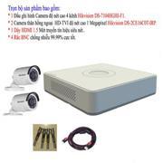 Bộ 1 đầu ghi hình 4 kênh Hikvision DS-7104HGHI-F1 + 2 Camera hồng ngoại 1 Megapixel Hikvision DS-2CE...