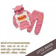 Bộ nỉ thu đông Little Maven made in vietnam chất lượng cao Size 18m- 2y- 3y - 4y-5y