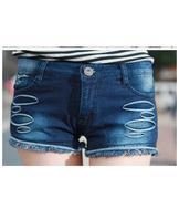 quần short jeans cạp cao rách