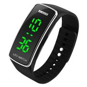 Silicone LED Sport Bracelet Touch Digital Wrist Watch Black