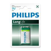 Vỉ 1 viên pin LongLife Philips 6F22L1B 9V (Xanh lá cây)