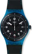 Swatch Men's Originals Rubber Swiss Automatic Watch 41MM