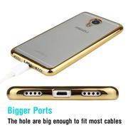 Ốp lưng Silicon cho Meizu MX6 (Trắng viền vàng)