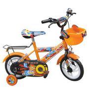 Xe đạp trẻ em 2 bánh Robi M909 màu cam đen, cho trẻ từ 4~6 tuổi