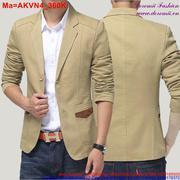 Áo khoác vest nam công sở phối túi thời trang AKVN4(BBB)