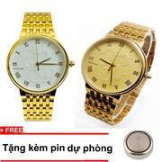 Bộ 2 sản phẩm đồng hồ nam mặt rồng đúc nổi + Tặng kèm pin dự phòng CBR009