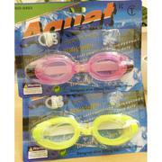 Kính bơi người lớn Aquatic cao cấp có nút chặn tai, kẹp mũi