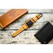 Dây đồng hồ da thật Handmade cho Apple Watch ( 38mm và 42mm ) – Mẫu BF02D4 Cuff
