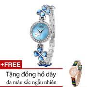 Đồng hồ nữ Kimio Ba Lá Xanh + Tặng một đồng hồ dây da bất kỳ