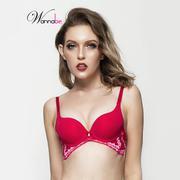 Áo ngực mút dày phối ren Wannabe màu đỏ AN502
