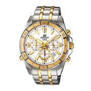 Đồng hồ dây thép không gỉ EDIFICE nam thời trang Casio (Dây bạc viền vàng) - EFR-304SG-7AVUDF