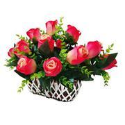 Bình hoa hồng oval