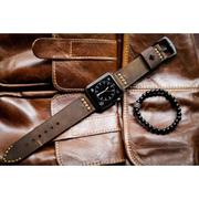 Dây đồng hồ da thật Handmade cho Apple Watch ( 38mm và 42mm ) – Mẫu BF02D5