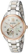 Đồng hồ nữ Bulova Two-Tone Automatic Exhibition Diamond Watch