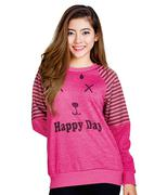 Áo thun nữ Happy day xinh xắn - Hồng sen
