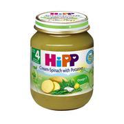 Dinh dưỡng đóng lọ Hipp rau chân vịt khoai tây và sữa