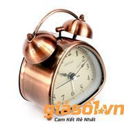 Đồng hồ báo thức Clock - 6026 (Đồng)