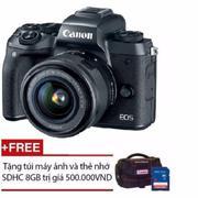 Canon EOS M5 với lens kit 15-45mm STM (Đen) Tặng 1 thẻ nhớ 8G + 1 túi Canon EOS chính hãng - Hãng ph...