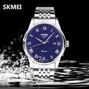 Đồng hồ nam dây thép không gỉ SKMEI DHN38 (Xanh)