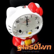 Đồng hồ báo thức để bàn Hello Kitty - SS19054( Trắng Đỏ)