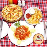 Set Pizza Mỳ Ý Kèm Khoai Tây Chiên Cho 2 Người Tại Hệ Thống Pizza Hoa Ý