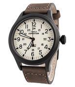 Đồng hồ nam dây da TIMEX T49963  - Nâu
