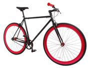 Vilano Rampage Fixed Gear Bike Fixie Road Bike - Red/Black