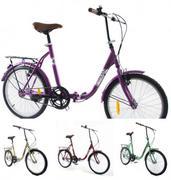 Xe đạp gấp thông dụng Fornix - BG802 (màu xanh)