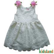 Đầm ren trắng bé gái xinh xắn  - AD89