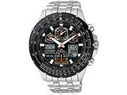 Citizen Skyhawk A-T Stainless Steel Chronograph Atomic Mens Watch JY0000-53E