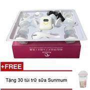 Máy hút sữa điện đôi Kichilachi tặng kèm 30 túi trữ sữa Sunmum