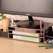 Bàn kê màn hình máy tính Monitor, Laptop đa năng bằng gỗ 2 tầng
