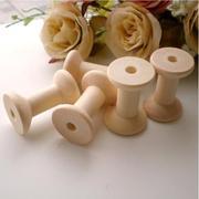 10Pcs Wooden Bobbins Spools Reels For Sewing Ribbons Twine Crafts 29mm x23mm - Intl