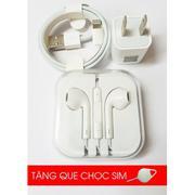 Bộ củ cáp tai combo sạc dành cho iphone 7 (Tặng que chọc sim)