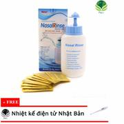 Bình rửa mũi Nasal Rinse kèm 10 gói muối + Tặng Nhiệt kế điện tử