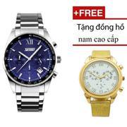 Đồng hồ Nam Skmei Lịch Lãm SK083 ( Xanh ) + Đồng hồ nam cao cấp
