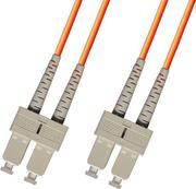SC-SC Duplex MM OM3 50/125um, 2mm LSZH Patch Cord 3m