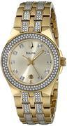 Đồng hồ nữ Bulova 98M114 Crystal Stainless Steel Watch