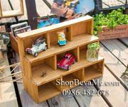 Kệ gỗ mini 3 tầng bày đồ trang trí