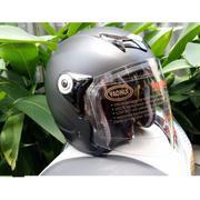 Mũ bảo Hiểm Napoli moto Tem số 46 ( Kính Trắng Trong) + Tặng Khăn phượt đa năng