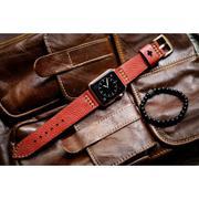 Dây đồng hồ da thật Handmade cho Apple Watch ( 38mm và 42mm ) – Mẫu BF02D42