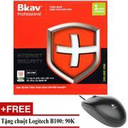 Phần mềm diệt virus Bkav Pro Internet Security + Tặng Chuột Logitech B100