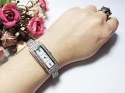 Đồng hồ bạc mặt vuông cá tín
