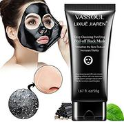 Vassoul Blackhead Remover Mask, Purifying Peel-off Mask with Activated Charcoal Deep Pore Cleanse fo...