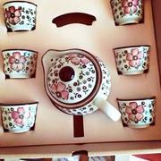 Bộ ấm chén uống trà phong cách Nhật Bản (Đỏ)