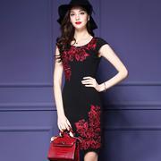 Đầm Dự Tiệc Thêu Hoa Hồng