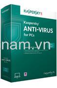 Phần mềm diệt virut Kaspersky Antivirus (3PC/12T)